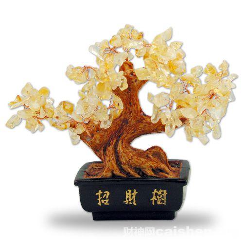 水晶招财树