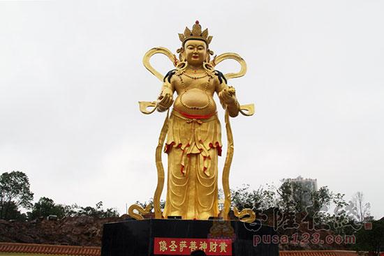 黄财神菩萨圣像(图片来源:菩萨在线 摄影:妙静)